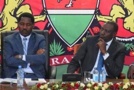 Agriculture CS Peter Munya (left) and DP William Ruto in 2019.