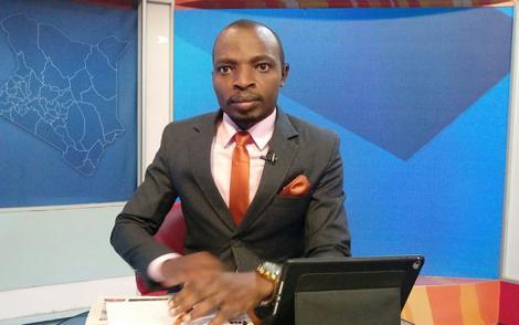 Outgoing KTN News presenter Lofty Matambo at a studio along Mombasa Road