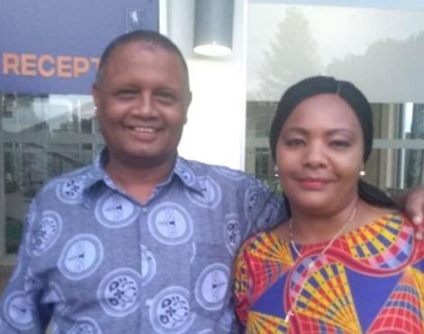Pauline Sheghu (right) with Veteran KBC Anchor Badi Muhsin (left)