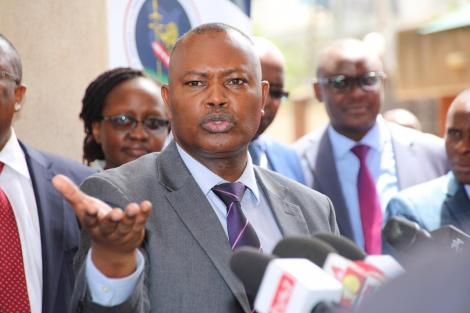 Director of Criminal Investigations George Kinoti addresses the media on Thursday, March 5, 2020.