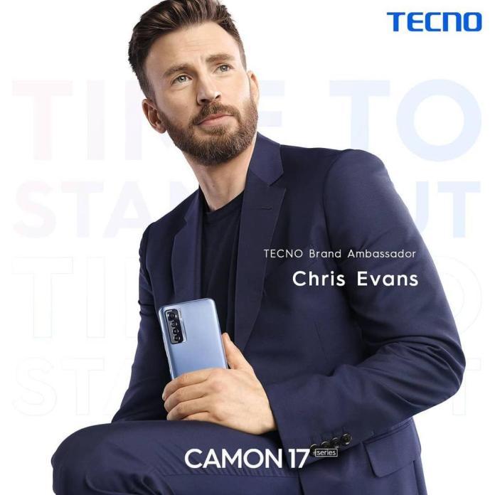 TECNO Announces Internationally Renowned Actor Chris Evans as its brand ambassador