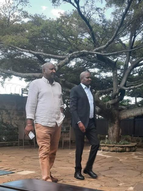 Gatundu South Moses Kuria with KANU Secretary General Nick Salat on May 1, 2021