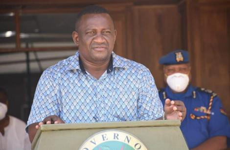 Kwale Governor Salim Mvurya addressing the media on April 6, 2020.