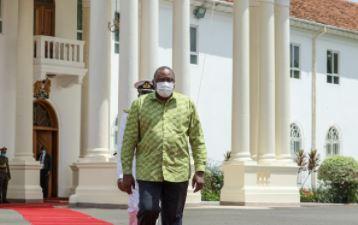 President Uhuru Kenyatta on May 1, 2021.
