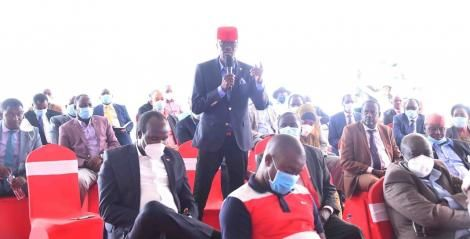 Kimilili MP Didmus Barasa speaking during a meeting held at DP Ruto's home in Karen on Wednesday, December 2