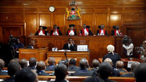Supreme Court Judges during a past court hearing