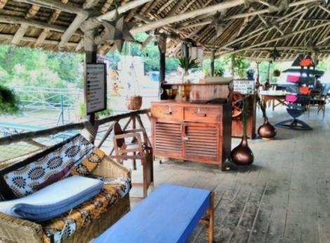 Inside the Moorings restaurant in Mtwapa