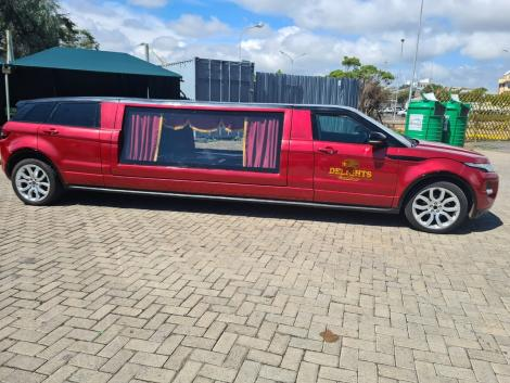 A Range Rover Limousine Hearse owned by Delight Funeral Directors