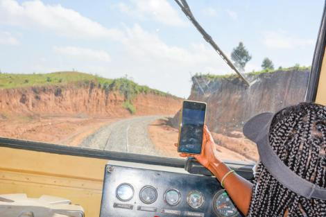 Train during a test ride on the Nakuru-Kisumu