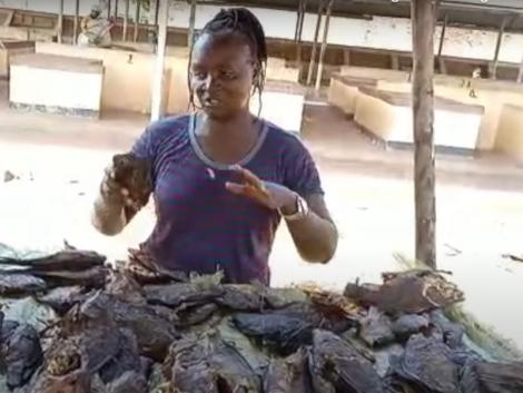 Former Police officer Doris Wako at her fish joint in Busia County
