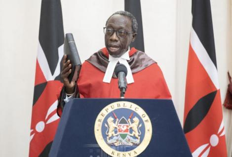 William Ouko sworn in as a Supreme Court judge on Friday, May 21, at State House