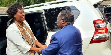 COTU secretary general Francis Atwoli and Nairobi Deputy Governor Ann Kananu in a photo taken in Kileleshwa on Thursday, May 27.