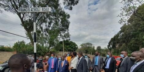 A road named after COTU secretary general Francis Atwoli unveiled on Thursday, May 27