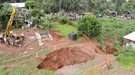 Scene of the accident where five people died at a gold mine at Bushiangala, Ikolomani constituency, Kakamega county
