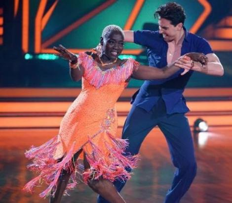 Dr Auma Obama with her dance partner during the show in 2021.
