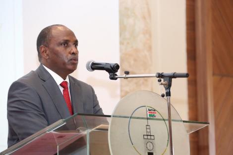 Treasury CS Ukur Yatani speaking at Ole Sereni on Wednesday, August 26, 2020