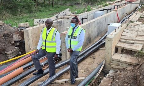 Energy CS Charles Keter (left) and Kenya Power Managing Director & CEO, Bernard Ngugi on May 6, 2021.