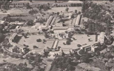 An aerial view of European Girls' School, now Kenya High School established 1908.
