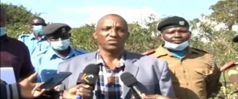 Samburu Central Deputy County Commander Abdikadir Malicha Addressing the Press Source: Twitter