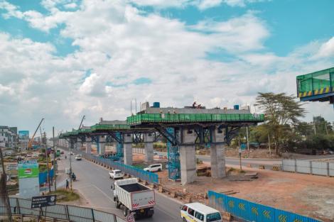 A section of the Nairobi Expressway along Mombasa Road