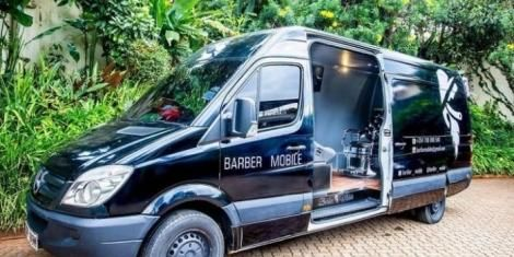 File image of the van used for barber services