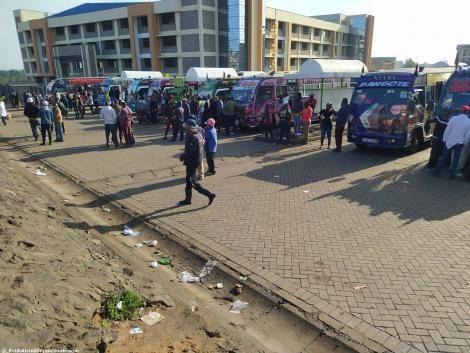 File image on Ngong Matatus on Wednesday, February 10 morning