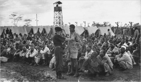 A file image of a detention Camp in 1954.