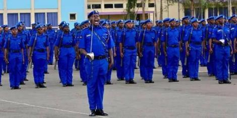 Kenya Police during a parade