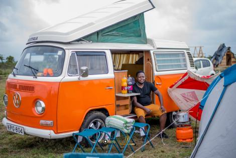Photo of a Volkswagen van as a form of leisure accommodation vehicle in Kenya.