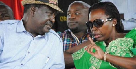 An image of Raila and Karua