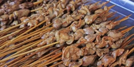 A photo of chicken gizzards