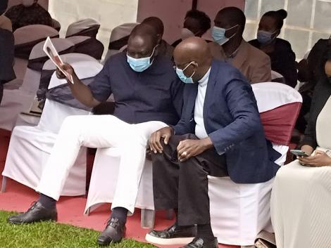 Deputy President William Ruto attending a burial in Kangundo on Saturday, June 12
