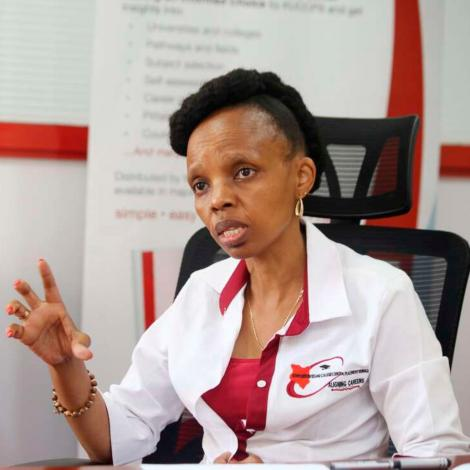 An undated file image of Kenya Universities and Colleges Central Placement Service (KUCCPS) CEO Agnes Wahome.