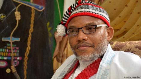 Nnamdi Kanu, the leader of a group that is calling for the independence of Biafra from Nigeria.