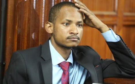 Embakasi East Member of Parliament Babu Owino in court on January 27, 2020.