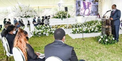 Tecra Muigai's funeral.