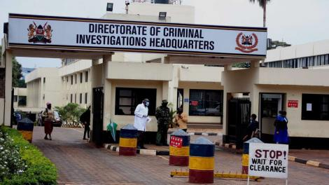 An image taken outside the DCI headquarters in Kiambu Road, Nairobi