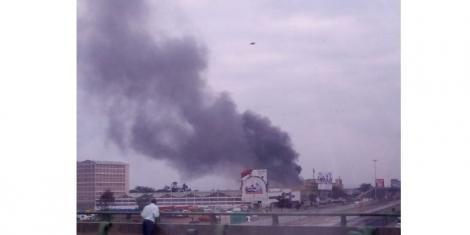 Fire along Mombasa Road