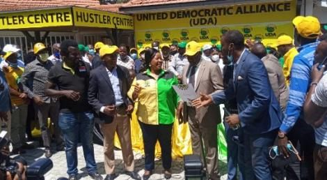 United Democratic Alliance Candidates getting their by-election certificates after endorsement by DP William Ruto on January 8, 2021.