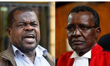 Human rights activist Okiya Omtatah and Chief Justice David Maraga.