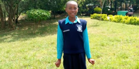 An undated image of KCPE 2020 Top Candidate Faith Mumo
