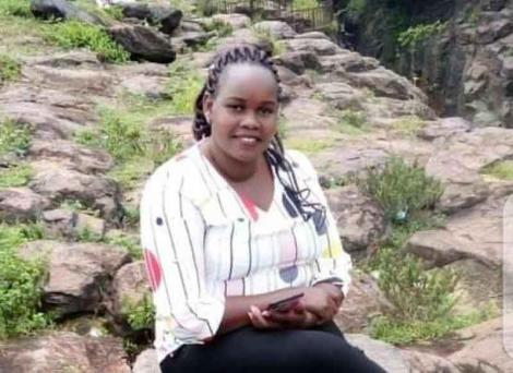 Undated image of wanted police officer Caroline Kangogo