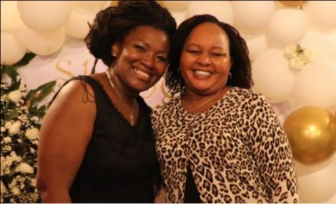 Gender CAS Rachel Shebesh and Kirinyaga Governor Anne Waiguru at the former's birthday party
