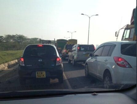 Image of traffic on Southern Bypass Mombasa Road