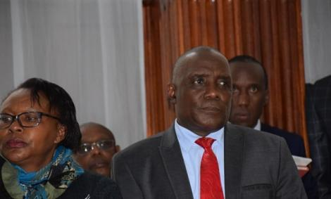 National Lands Commission Chief Prof. Mohammed Abdala Swazuri appearing before Anti- Corruption Court, in Milimani, August 13, 2018.