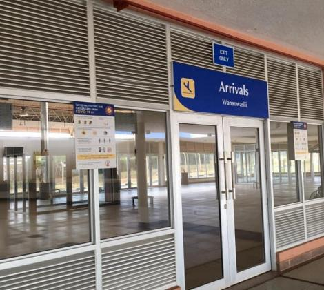 An Image of the Arrivals Section in Isiolo International Airport.
