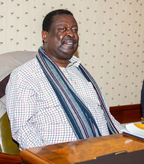 ANC Musalia Mudavadi during One Kenya Alliance meeting at Hermosa Gardens in Karen on Tuesday, July 20, 2021