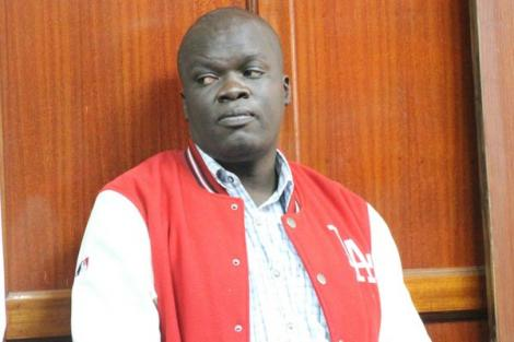 Blogger Robert Alai in the dock during a past appearance at Milimani Law Courts