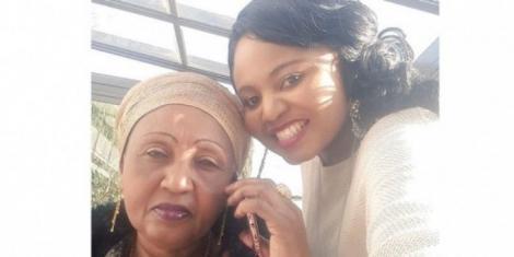 Former K24 TV anchor Mwanaisha Chidzuga and her mother Zainab