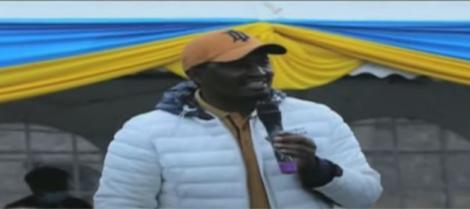 The Service Party of Kenya (TSP) Party Leader Mwangi Kiunjuri Addressing A Crowd On Sunday, August 8, 2021.